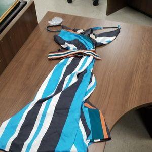 LOFT stripe dress NWT MP
